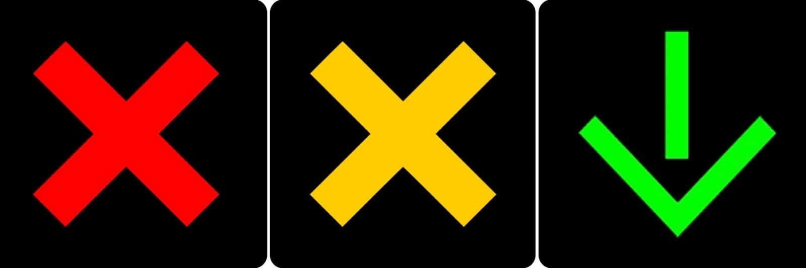 Lane use control signals