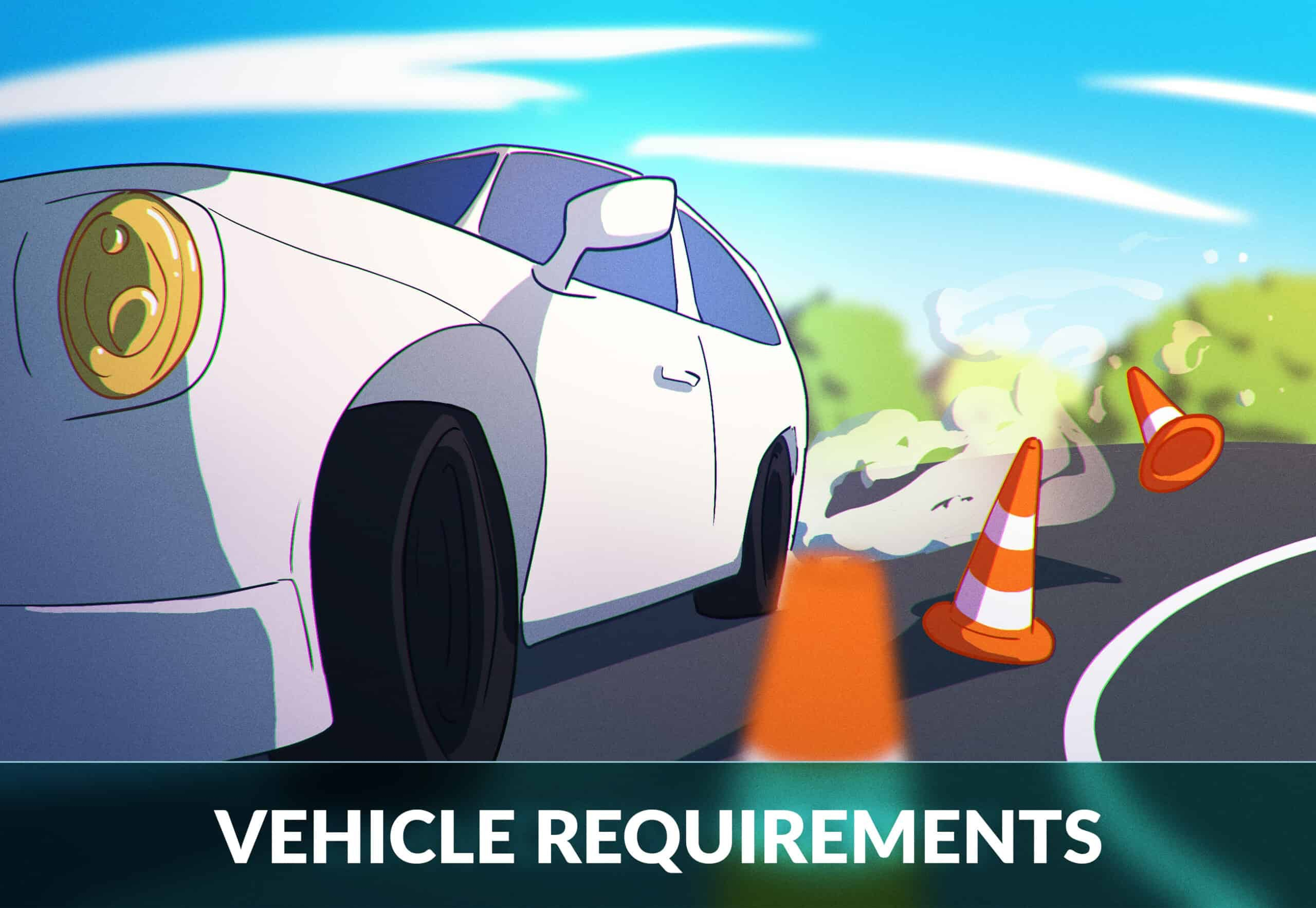 Vehicle requirements for the dmv road test