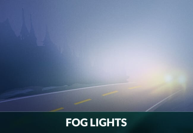 Driving with fog lights