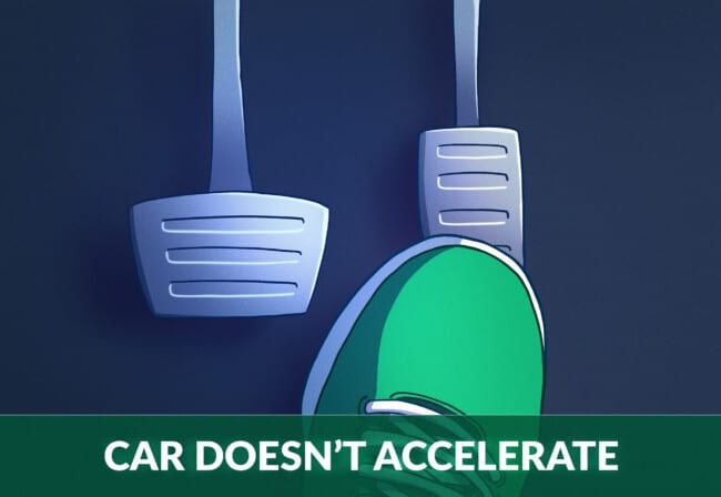 car does not accelerate