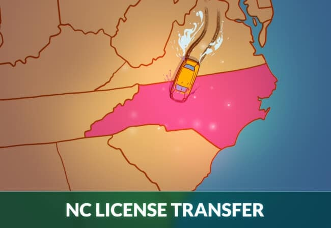 transfer license to North Carolina