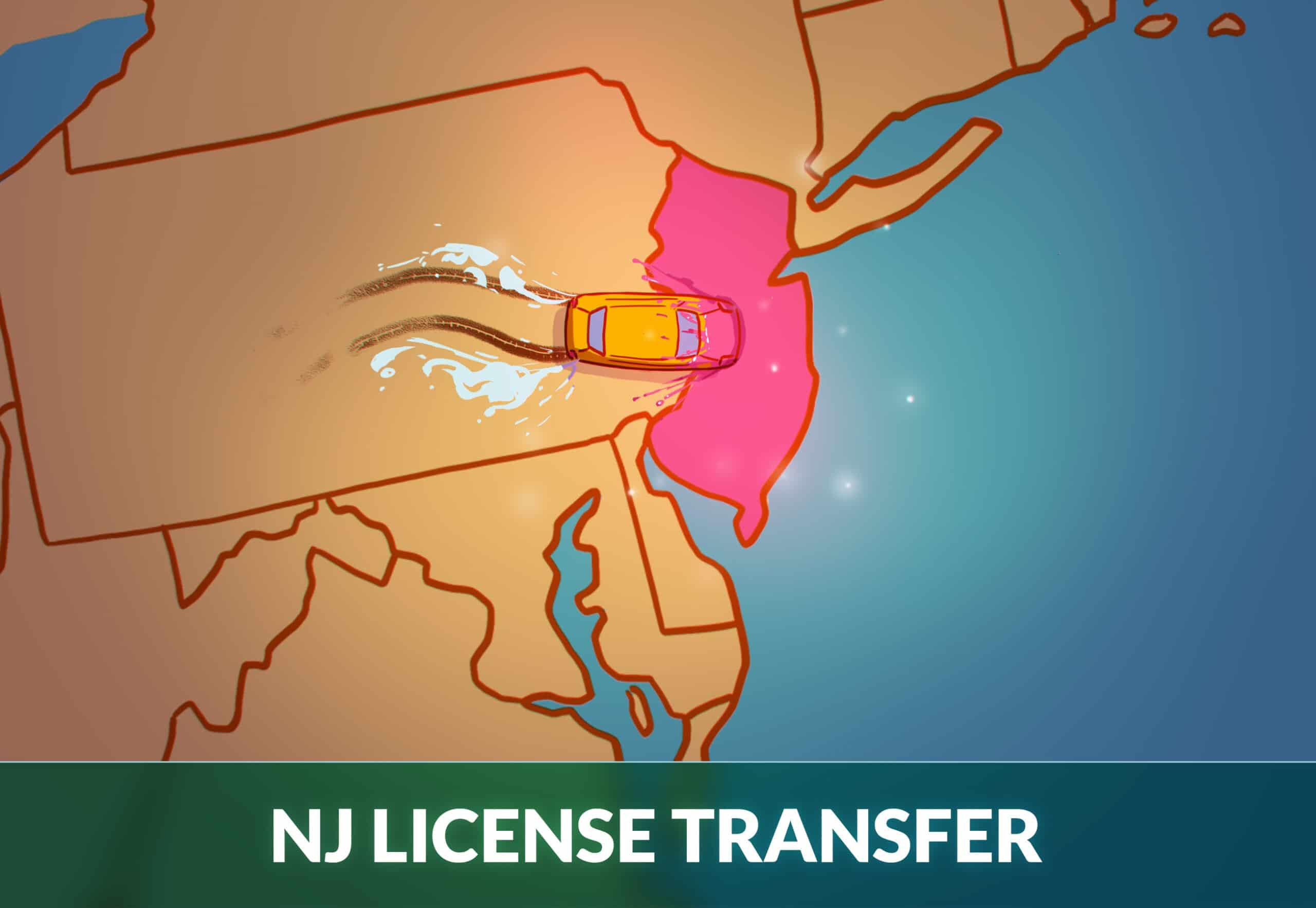 Transfer drivers license to new jersey