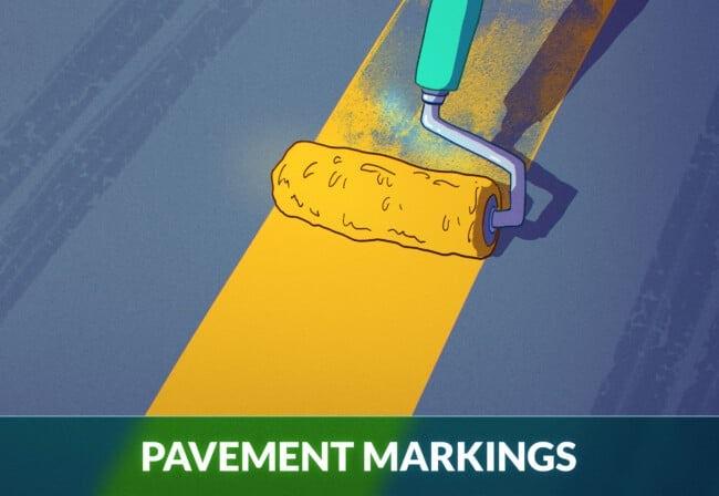 Pavement Markings lane lines road markings