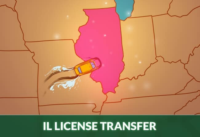 Transfer drivers license to Illinois