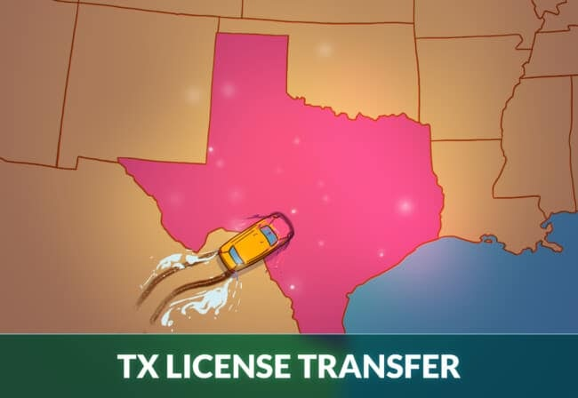 Transfer drivers license to Texas