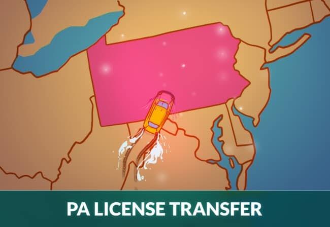 Transfer driver's license to Pennsylvania