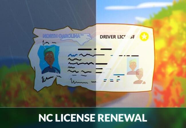 North Carolina driver's license renewal