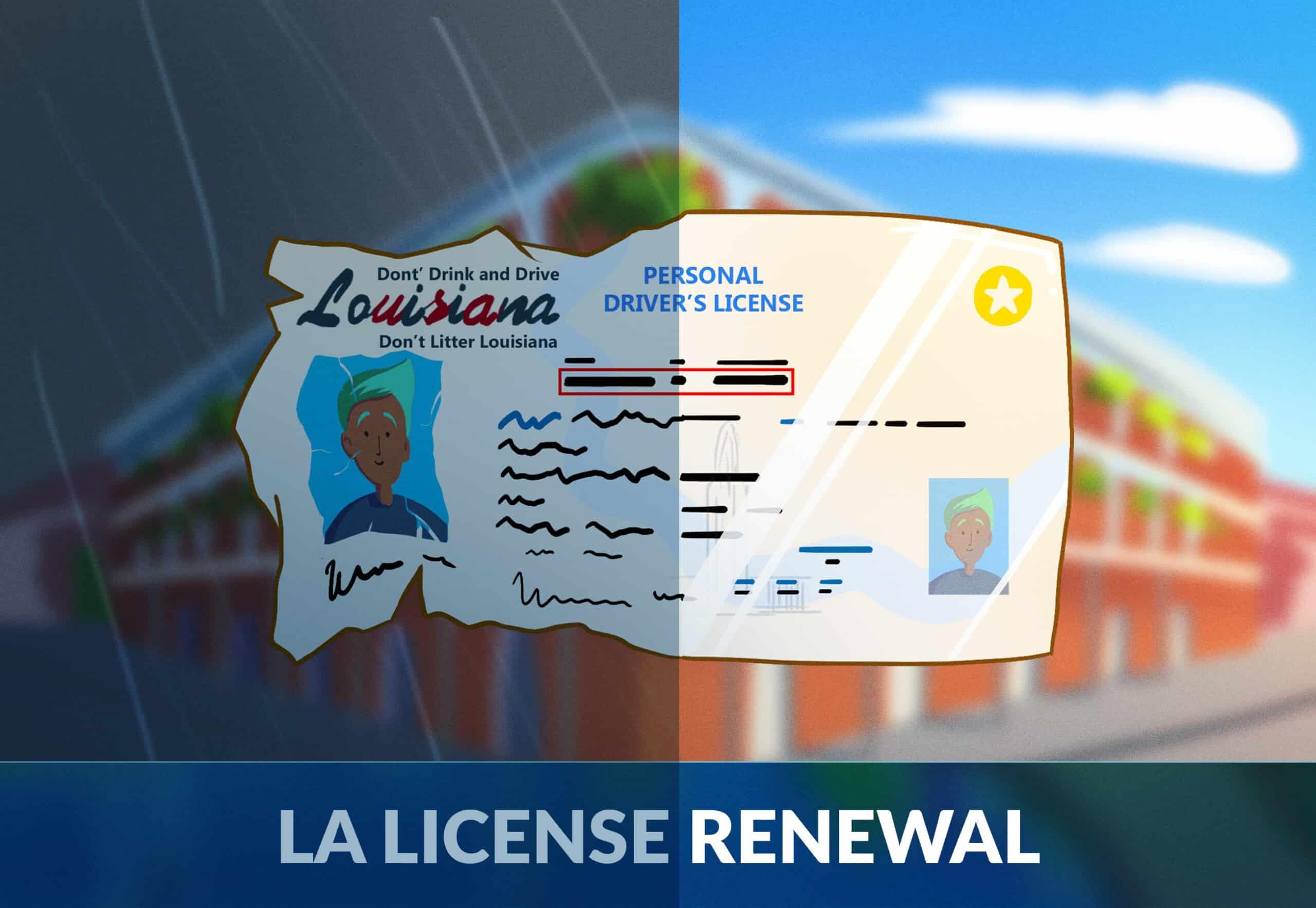 Louisiana driver's license renewal