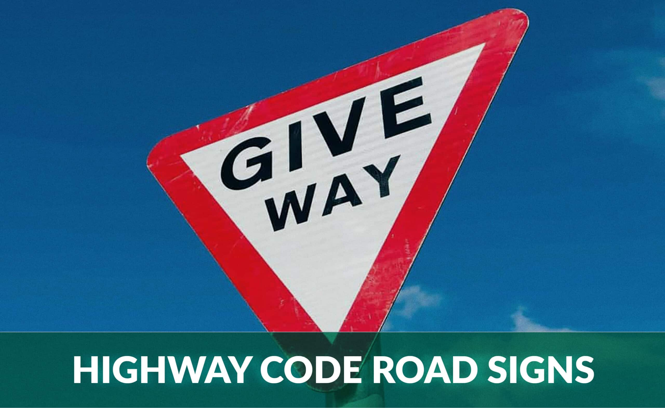 highway code road signs