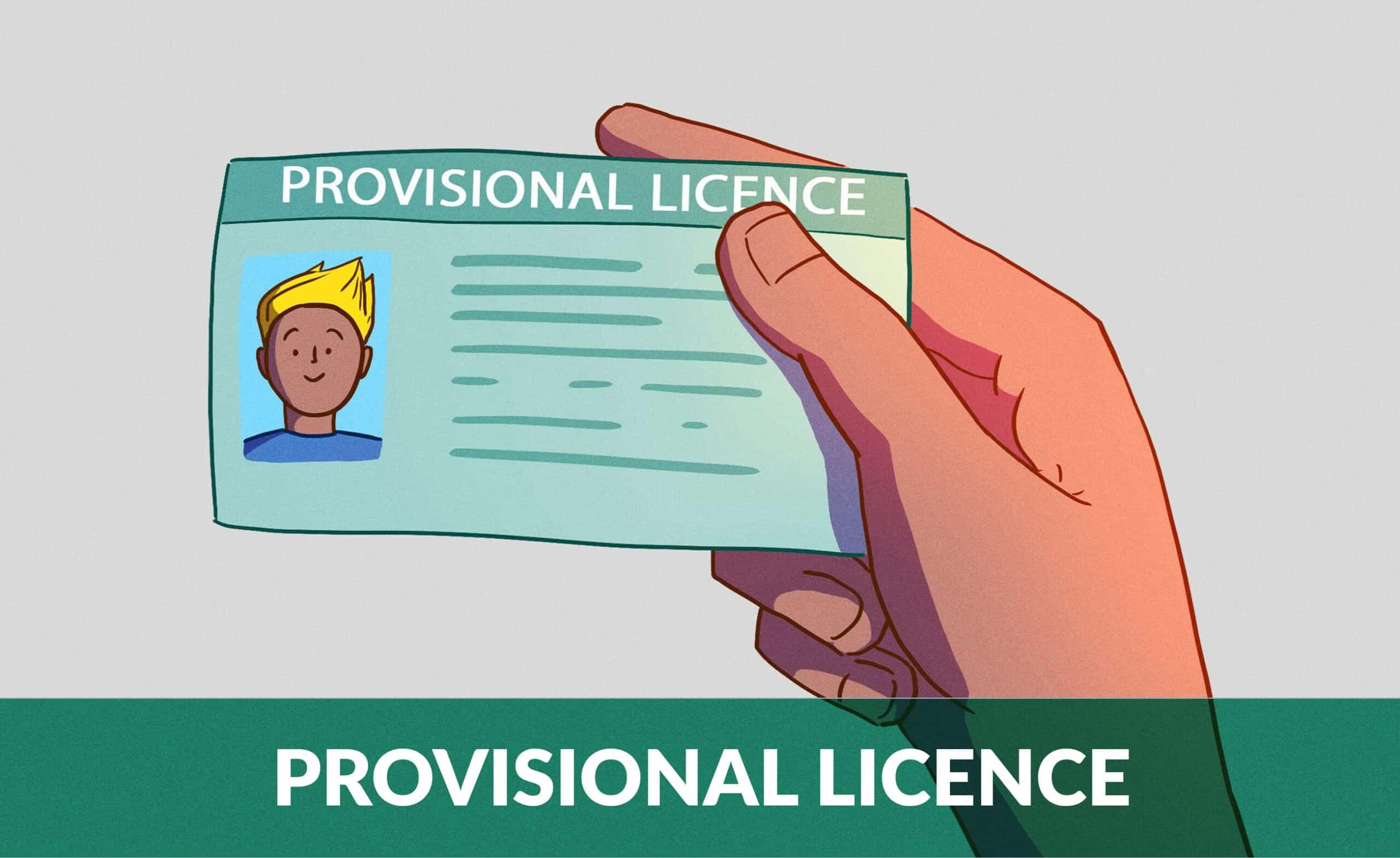 provisinal licence