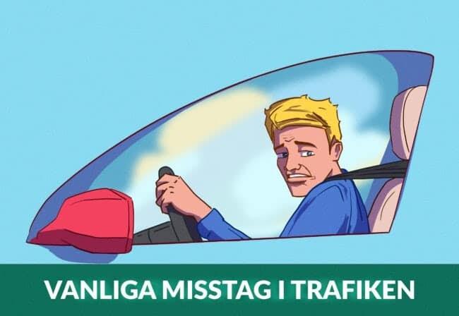 Vanliga misstag i trafiken