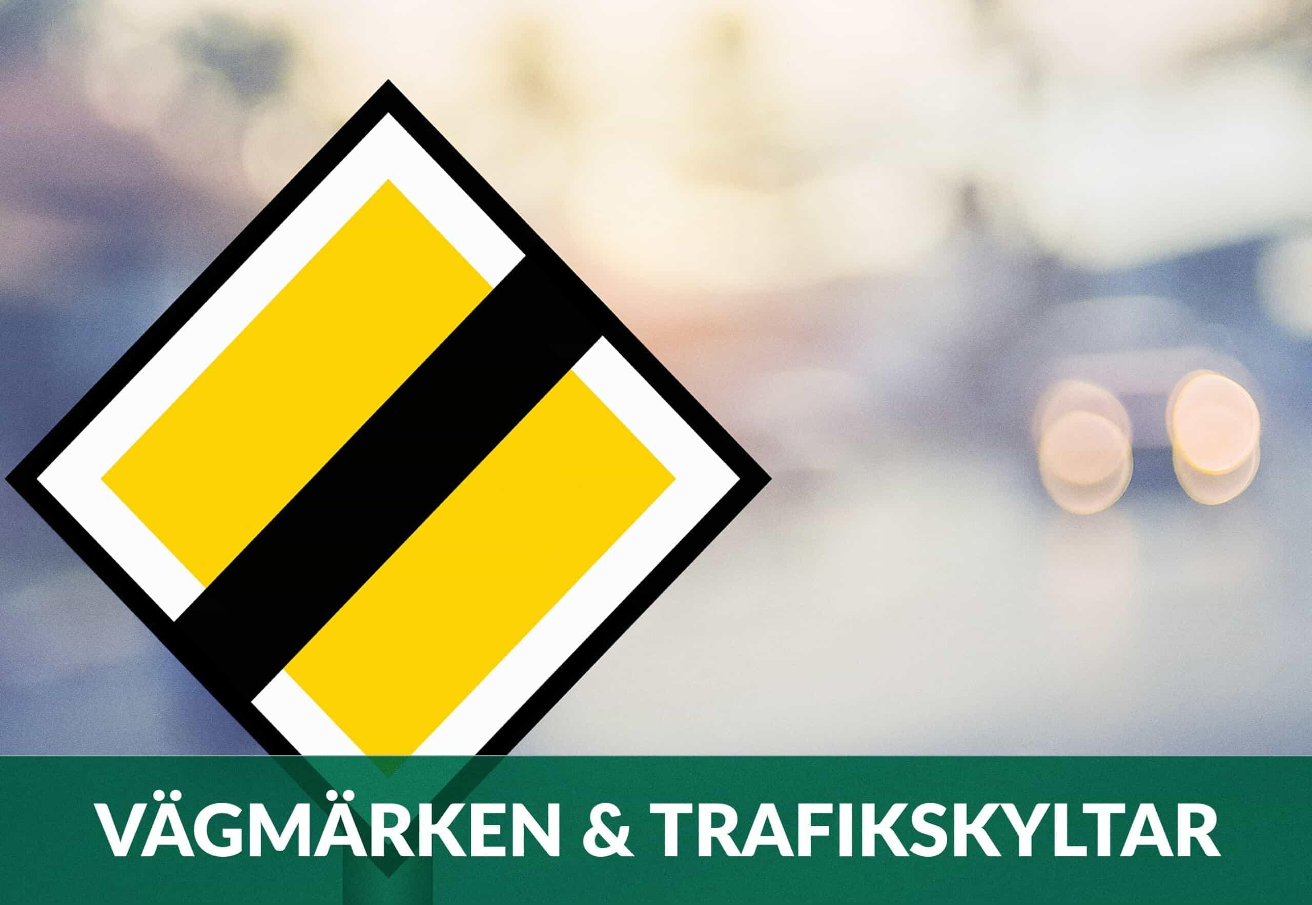 vägmärken och trafiksklytar