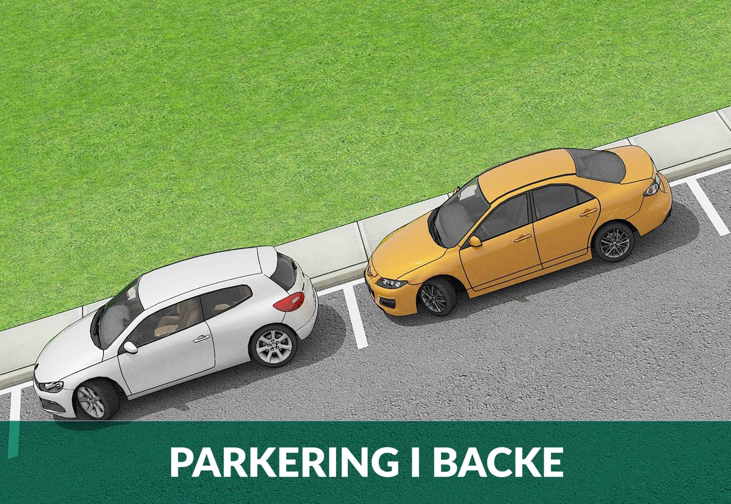 parkering i backe